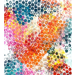 Bubble wrap print art