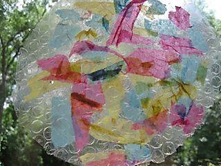 Bubble wrap collage tissue