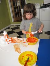 P orange foam sm
