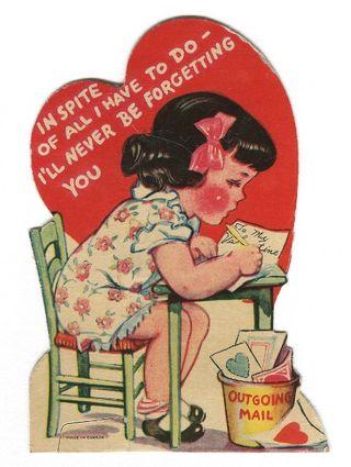 Busy writer valentine