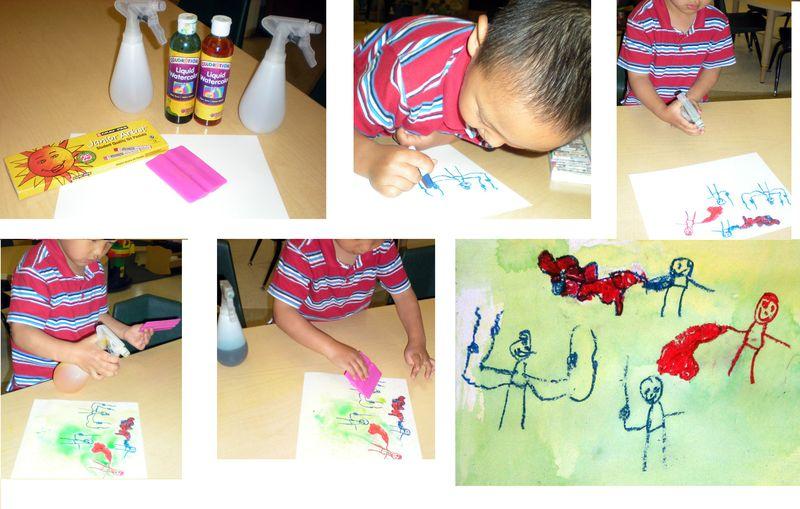 Spray & Scrape Sequence painting