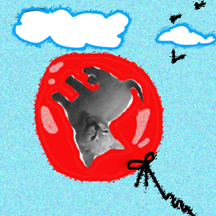 Dali cat balloonsm