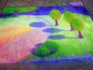 Chalk path through trees
