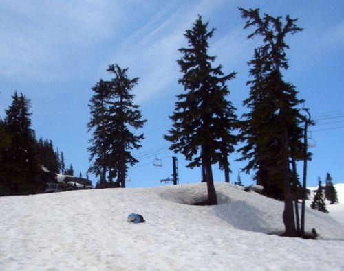 Mom bagging Mt Baker