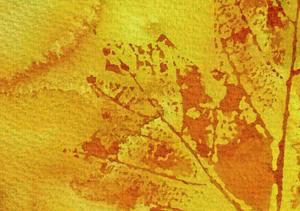 Leaf Painting Pressed in Watercolor