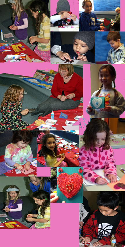 Children Create Valentine's for the Seattle Children's Hospital