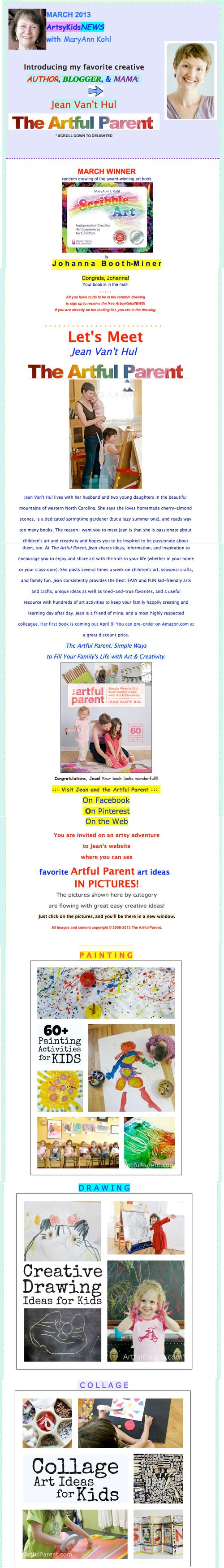 March 2013 artsykidsnews section one